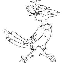 Vogel zum online Ausmalen