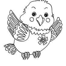 Süßer Vogel zum Ausmalen