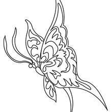Kawaii Schmetterling zum Ausmalen