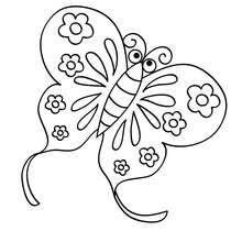 Süßer Schmetterling zum Ausmalen