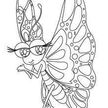 Kawaii Schmetterling zum online Ausmalen
