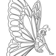Kawaii Schmetterling Bild zum Ausmalen