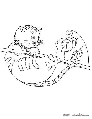 Süße Katze Zum Online Ausmalen Zum Ausmalen Dehellokidscom
