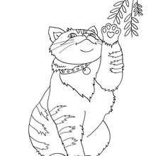 Süße Katze zum online Ausmalen