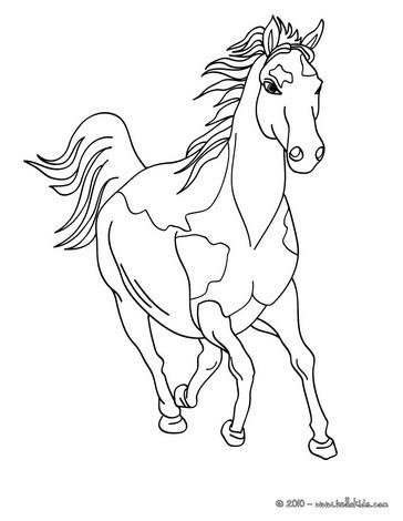 Pferd Zum Online Ausmalen