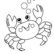 Kawaii Krabbe zum Ausmalen
