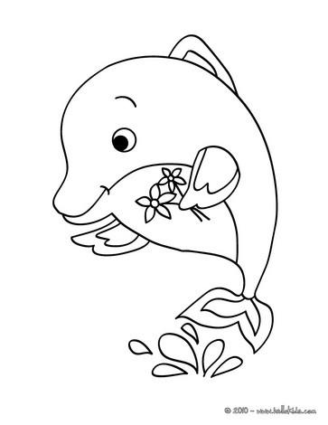 Delphin zum ausdrucken zum ausmalen - de.hellokids.com