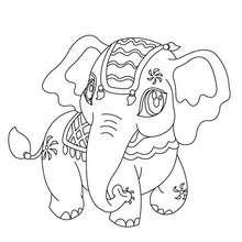 Kawaii Elefant zum Ausmalen