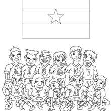 Team of Ghana coloring page - Coloring page - SPORT coloring pages - FIFA WORLD CUP SOCCER 2010 coloring pages - SOCCER TEAMS coloring pages