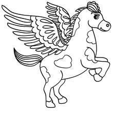 Pegasus zum online Ausmalen