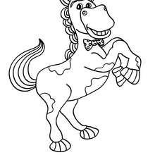 Lächelndes Pferd zum online Ausmalen