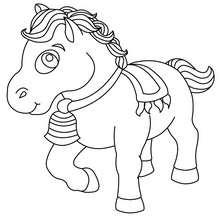Kleines Pony zum Ausmalen