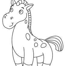Lächelndes Pony zum Ausmalen