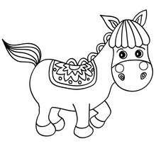 Süßes kleines Pferd zum Ausmalen