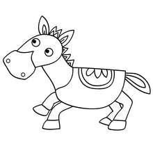 Lustiges Pony zum Ausmalen
