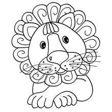 Kawaii Löwe zum Ausmalen