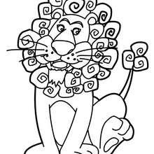 Löwe zum online Ausmalen
