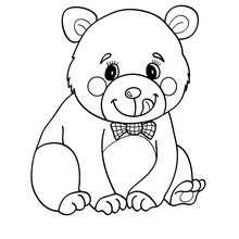 Kawaii Bär zum Ausmalen