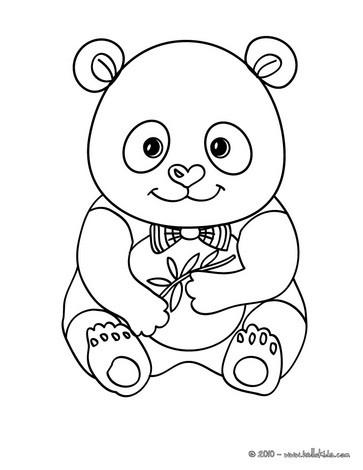 Süßer Panda Zum Ausmalen Zum Ausmalen Dehellokidscom