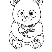 Süßer Panda zum Ausmalen