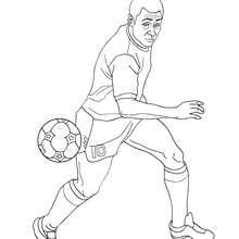Pelé spielt Fussball zum Ausmalen
