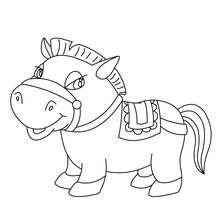 Süßes Pony zum Ausmalen