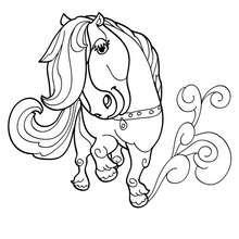 Kawaii Pony zum Ausmalen