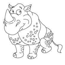 Süßes Nashorn zum Ausmalen