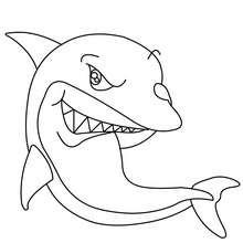 Süßer Hai zum Ausmalen