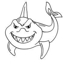 Lustiger Hai zum Ausmalen