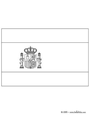 Spanien Flagge Zum Ausmalen Zum Ausmalen De Hellokids Com