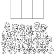 Team of Côte d'Ivoire coloring page - Coloring page - SPORT coloring pages - FIFA WORLD CUP SOCCER 2010 coloring pages - SOCCER TEAMS coloring pages