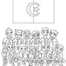 Algerische Mannschaft zum Ausmalen