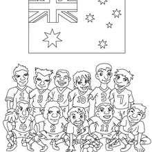 Australische Mannschaft zum Ausmalen