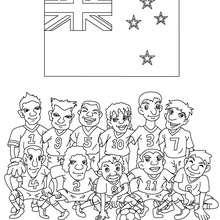 Neuseeländische Mannschaft zum Ausmalen