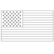 USA Flagge zum Ausmalen