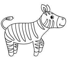 Kawaii Zebra zum Ausmalen