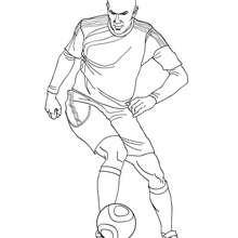 Zidane spielt Fussball zum Ausmalen