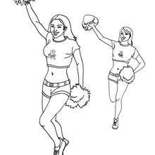 Basketball Cheerleader zum Ausmalen