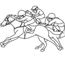 Pferderennen zum Ausmalen