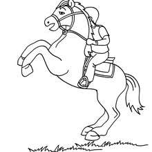 Kind auf einem Pferd zum Ausmalen