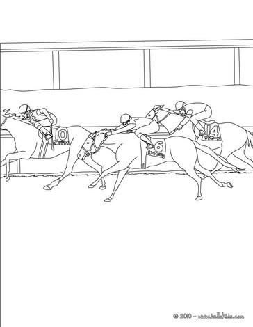 Pferderennen zum ausmalen zum ausmalen - de.hellokids.com