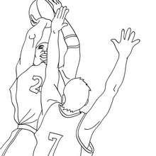 Basketball Spieler zum Ausmalen