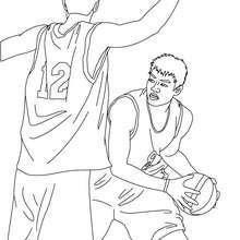 Basketball Spieler zum online Ausmalen