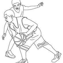 Basketball Manndeckung zum Ausmalen