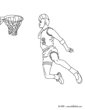Basketball korbleger zum ausmalen zum ausmalen de for Nba players coloring pages