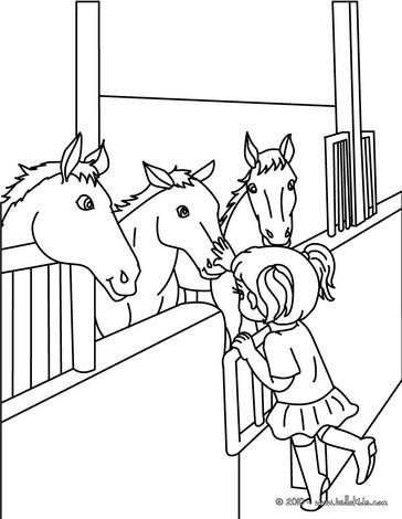 Mdchen putzt ihr pferd zum ausmalen zum ausmalen dehellokids pferde im stall zum ausmalen thecheapjerseys Images