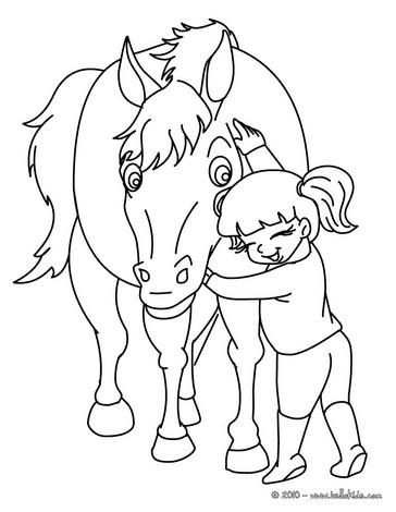 Mdchen putzt ihr pferd zum ausmalen zum ausmalen dehellokids mdchen umarmt ihr pferd zum ausmalen thecheapjerseys Images