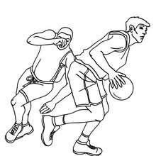 Basketball Spieler laufen zum Ausmalen