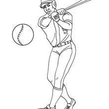 Baseball Batter zum Ausmalen